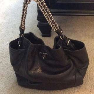 AUTHENTIC PRADA CHAIN HOBO CERVO