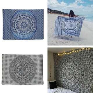 Vanitas Mandala Tapestry