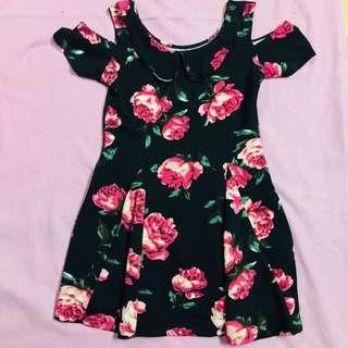 Floral coldshoulder dress