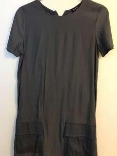 *包平郵* Grey Pocket Shift Dress