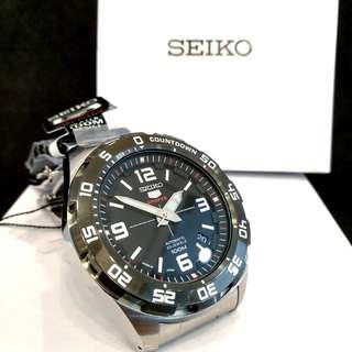 * FREE DELIVERY * Made In Japan Brand New 100% Authentic Seiko 5 Sports Automatic Mens Casual Watch Black Bezel SRPB81J SRPB81