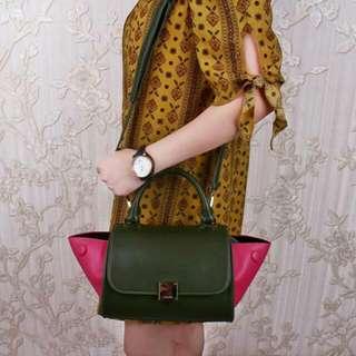 C3line Trapeze 3 Tone Handbags