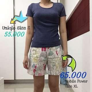 PRELOVED Uniqlo Basic Tees Tshirt Kaos size S