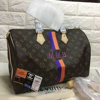 LV speedy bandouliere personalized