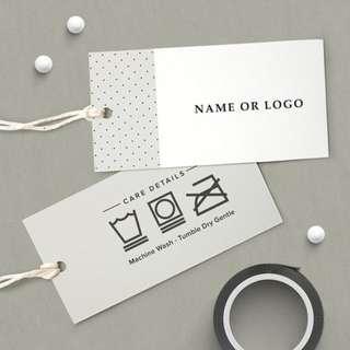 Retail Label Hand Tags Design & Print