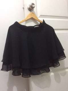 Semi-circular black skirt