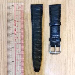 22mm黑色真皮手錶皮帶