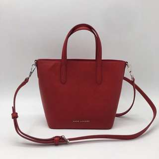 Marc Jacobs Hand Carry Satchel / Crossbody Bag - red