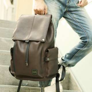 Fashion genuine leather mens backpack bag big size #6082