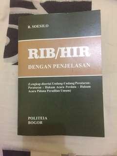 RIB/HIR dengan penjelasan R. Soesilo Hukum Acara Perdata