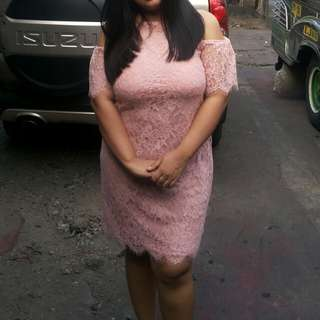 Peach Dress Plus size *REPRICED*