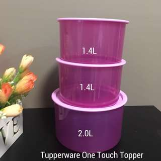 Tupperware One Touch Topper set