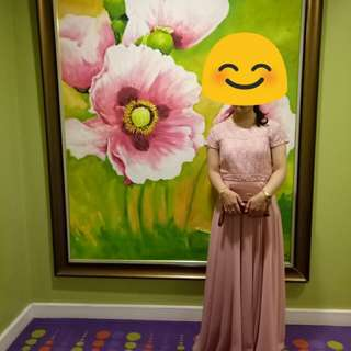 Old Rose Long Gown for Rent PHP 600