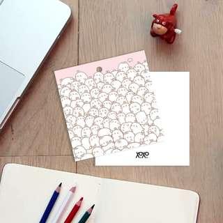 Camo Bunny Molang Rabbit Gift Card Hand Tag