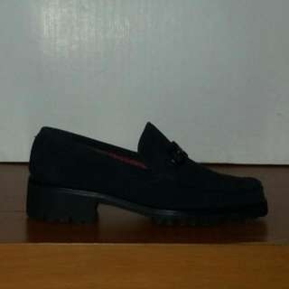 Salvatore Ferragamo Gray Women's Lug Sole Loafers Size 8
