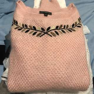 Chanel pink cashmere top Sz 40