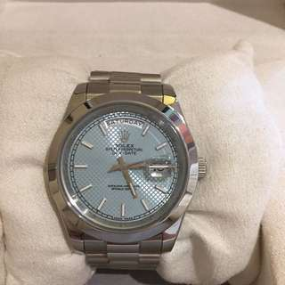 Rolex day date platinum