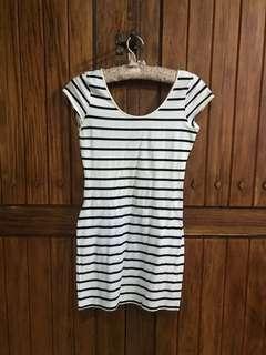 Striped Cotton Mini Dress
