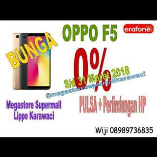 Oppo F5 cicilan tanpa CC, bunga 0%