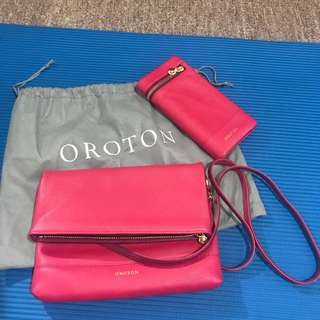 Auth Oroton Bag n Wallet