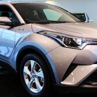 Black Toyota C-HR 1.8 Hybrid S - Rent