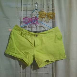 Neon yellowgreen shorts