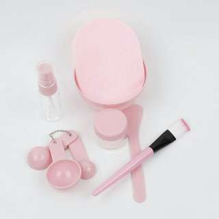 Face Spoon Brush Mixing Bowl Facial Mask 9in1 Kit