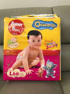 Diapers Onwards L size brandnew