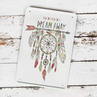 Dream Away Dreamcatcher Metal Poster / Design