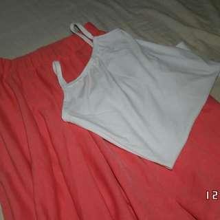 Knee length skirt and Sando
