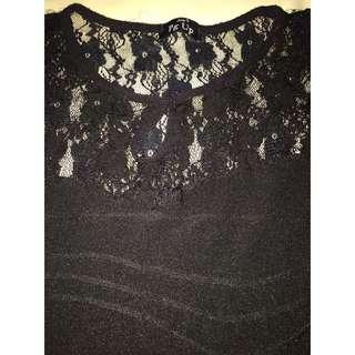 Black spandex dress