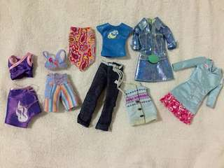 Assorted doll clothes