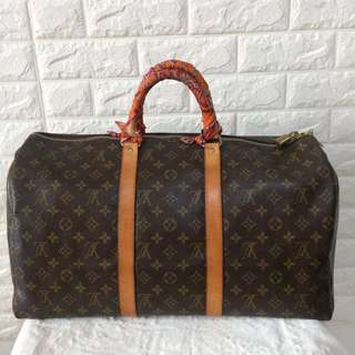 Authentic LV Monogram keepall 45 travel bag