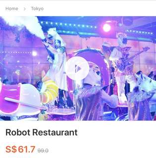 Discounted Robot Restaurant Tickets