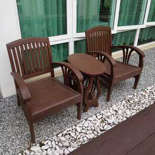 1 set of wooden Chair and Table