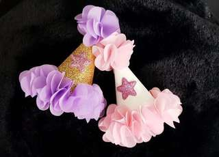Baby Girl's Birthday/Party Hat (Pink/Purple)