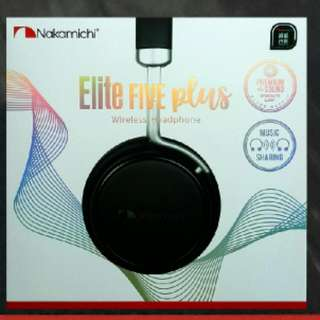 Nakamichi Elite Five Plus Bluetooth Headphone 日本中道藍芽耳筒 💝全新原裝行貨,有保用,地鐵交收,方便快捷