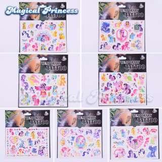 7 designs! My Little Pony temporary tattoo set