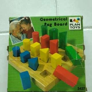 Geometric Peg Board