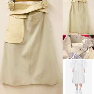 New Toga cream white skirt with leather size 38