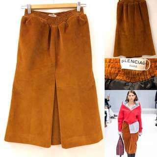 Balenciaga brown velvet skirt size 36