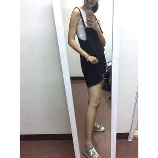 🚚 (二手)超好看黑色鬆緊吊帶裙