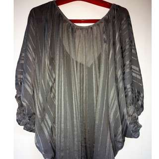 Plus Size Swimsuit Coverup - Grey