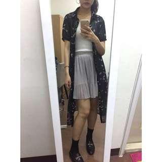 🚚 (全新)cp高淺灰色少女雪紡紗裙(有內裡安全褲)