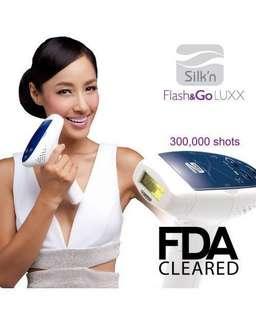 宅光脫毛機 Flash & Go Luxx 300K Silk'n(連一個300,000次燈盒)