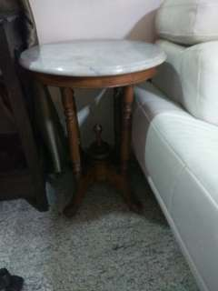 Old antique side marble table cheap sales