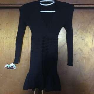 Knitted longsleeve dress