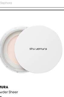 Shu uemura face powder sheer