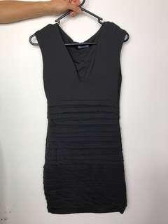 KOOKAI Dark Grey Low V Dress Size S