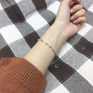 🚚 (全新)百合花包純銀首飾 手環(附盒子)